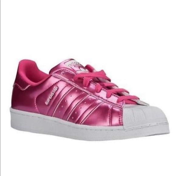 adidas superstar metallic pink